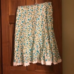 Dress Barn Floral summer skirt